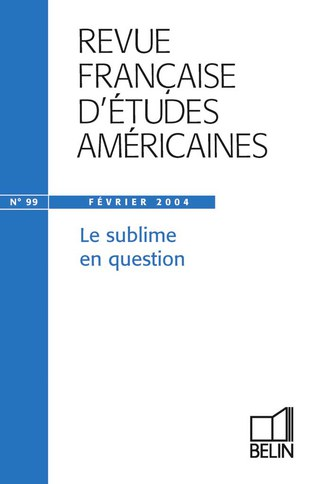 RFEA N°99 (2004-1) - Le sublime en question