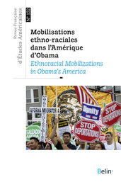 RFEA N°152 (2017-3) - <p>MOBILISATIONS ETHNO-RACIALES DANS L'AMERIQUE D'OBAMA</p>  <p>ETHNORACIAL MOBILIZATIONS IN OBAMA'S AMERICA</p>  <p> </p>  <p><strong>Melina Abdullah</strong></p>  <p>Black Lives Matter, Obama, and the Future of Black Mobilization. An Interview with Melina Abdullah by Yohann Lemoigne</p>  <p><strong>Céline Planchou</strong></p>  <p>Les mobilisations autochtones dans l'Amérique d'Obama : L'exemple des luttes anti-oléoduc</p>  <p><strong>Julien Zarifian</strong></p>  <p>Les Arméno-Américains et Barack Obama. De l'espoir à la désillusion</p>  <p><strong>James Cohen</strong></p>  <p>Race, Ethnicity and the US Immigrants' Rights Movement: Observations from Southern Arizona</p>  <p><strong>Côme Perotin</strong></p>  <p>La mobilisation locale pour le logement abordable à Williamsburg (Brooklyn), New York, sous l'administration Obama</p>  <p> </p>  <p><strong>Hors Thème</strong></p>  <p><strong>Claire Sorin</strong></p>  <p>« The Angel in and out of the House » : configurations et transfiguration de l'espace public dans l'oeuvre d'Eliza W. Farnham (1815-1864)</p>  <p><strong>Mathieu Duplay</strong></p>  <p>« We Sat in the Observation Car » : la modernité et l'éthique de la distance dans <em>My Ántonia </em>de Willa Cather</p>  <p><strong>Comptes rendus</strong></p>