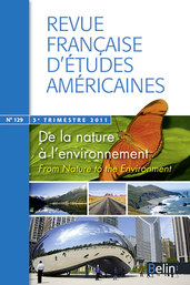 "RFEA N°129 (2011-3) - <p><strong>Dossier</strong> De la nature à l'environnement</p>  <p><em>From Nature to the Environment</em></p>  <p> </p>  <p><strong>Yves Figueiredo, Michel Granger, Thomas Pughe</strong></p>  <p>Introduction</p>  <p><strong>Yves Figueiredo</strong></p>  <p>""The Defining Issues of the Twenty-First Century."" An Interview with Donald Worster</p>  <p><strong>Bruno Monfort</strong></p>  <p>Le sphinx dénaturé : une écologie du discours ?</p>  <p><strong>Ariane Hudelet-Dubreil</strong></p>  <p>La maîtrise des forces naturelles dans le cinéma de Buster Keaton</p>  <p><strong>Jean-Baptiste Velut</strong></p>  <p>A Brief History of the Relations between the U.S. Labor and Environmental Movements (1965-2010)</p>  <p><strong>Sandrine Baudry</strong></p>  <p>Les <em>community gardens</em><em> </em>de New York City : de la désobéissance civile au développement durable</p>  <p><strong>Béatrice Trotignon</strong></p>  <p>Invocation et expression du site dans <em>The California Poem </em>d'Eleni Sikelianos</p>  <p><strong>Vincent Dussol</strong></p>  <p>Designating the Environment : <em>Deixis </em>and Nature Writing in the Poetries of Philip Whalen and Merrill Gilfi llan</p>  <p><strong>Rick Bass</strong></p>  <p>Writing in the West</p>  <p><strong>Comptes Rendus</strong></p>"