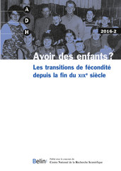 ADH 2016-2 - <p><strong>Avoir des enfants ? </strong></p>  <p><strong><strong>Les transitions de fécondité depuis la fin du xix<sup>e </sup>siècle </strong></strong></p>  <p>Sandra Brée, Virginie De Luca Barrusse, Thierry Eggerickx,<br /> Anne-Françoise Praz, <em>Avoir des enfants ? Les transitions de fécondité depuis la fin du XIX<sup>e</sup> siècle</em><br /> <br /> Virginie De Luca Barrusse, Caroline Rusterholz, <em>Les apports et les promesses de l'économie politique de la fécondité pour l'étude de ses transitions</em><br /> <br /> Sandra Brée, Mélanie Bourguignon, Thierry Eggerickx, <em>La fécondité en Europe occidentale durant l'Entre-deux-guerres. Quels effets des crises sur les comportements démographiques ?</em><br /> <br /> Danielle Gauvreau, Benoît Laplante, <em>La fécondité au Canada durant le baby-boom. Divergence et convergence des comportements</em><br /> <br /> Marco Breschi, Massimo Esposito, Alessio Fornasin, Matteo Manfredini, <em>Reproductive Change in Transitional Italy: More Insights from the Italian Fertility Survey of 1961</em><br /> <br /> Eli Nomes, Jan Van Bavel, <em>Marital fertility and educational Assortative mating before, during, and after the Baby Boom in Belgium</em><br /> <br /> Jan Kok, Hilde Bras, Paul Rotering, <em>Courtship and bridal pregnancy in the Netherlands, 1870-1950</em><br /> <br /> Aline Duvoisin, Sylvie Burgnard, Michel Oris, <em>Childless People during the Baby Boom in Switzerland</em><br /> <br /> <strong>Varia</strong></p>  <p>Aurélia Michel, <em>Familles en archipel : migrations dans les sociétés rurales mexicaines au XX<sup>e</sup> siècle</em><br /> <br /> <strong>Comptes rendus</strong></p>